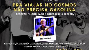 """DEBORAH FINOCCHIARO E ROGER LERINA RECEBEM NEI LISBOA: """"PRA VIAJAR NO COSMOS NÃO PRECISA GASOLINA"""""""