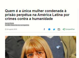 """""""LA CUCA"""": A CRUEL TORTURADORA DA DITADURA MILITAR ARGENTINA QUE FOI CONDENADA À PRISÃO PERPÉTUA"""