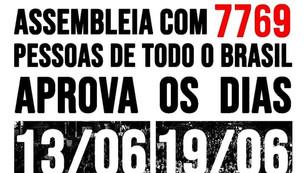 NOVAS MANIFESTAÇÕES PELO FORA BOLSONARO E PELO DIREITO À VACINA SERÃO REALIZADAS NO DIA 19 DE JUNHO