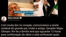SENADOR MAJOR OLIMPIO (PSL-SP) MORRE AOS 58 ANOS VÍTIMA DE COVID-19