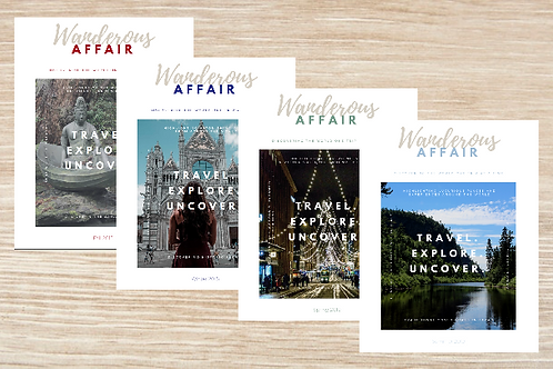 ONE YEAR Digital Subscription to Wanderous Affair Magazine