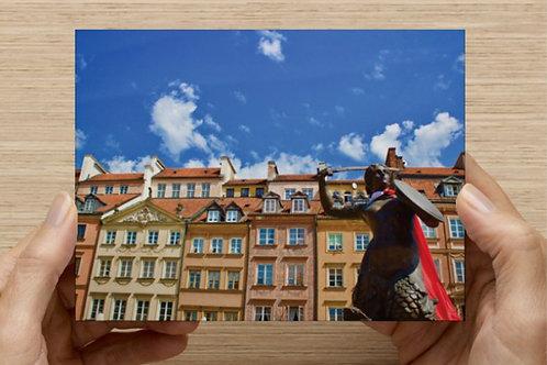 Mermaid of Warsaw (Poland) Postcard