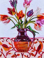 Open Tulips