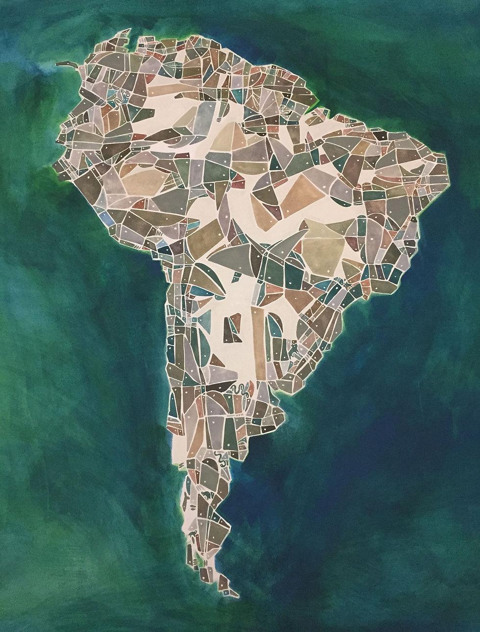 Mapa de América del Sur  margarita nores