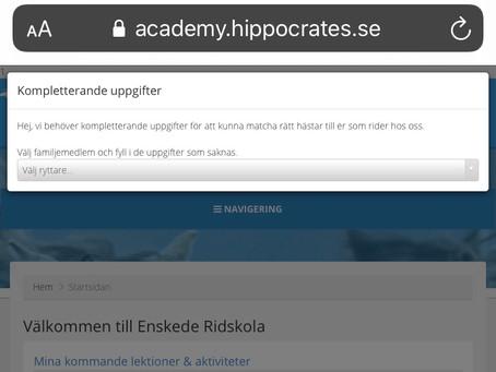 Uppdatering av ryttarinformation i Hippocrates
