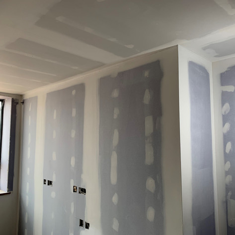 Fully Tape & Jointed wall in block M2 in Wokingham for McLaughlin & Harvey.