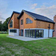Render complete around the four plots in Norwich for Burrows Developments.