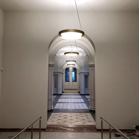 Completed works at the Royal Academy of Arts in Central London for John Sisk & Son.