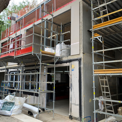 SFS installation around window and door openings on our project in Holland Park for Knight Build Ltd.