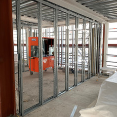 Stud walls installed on our project in Lower Marsh for Red Construction