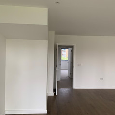 A completed room to a high-end finish on our project in Victoria Drive for McLaren Construction.