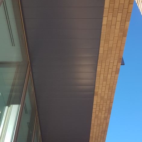 Hunter Douglas external ceilings installed on our Project at the Watling Academy for Graham Construction.