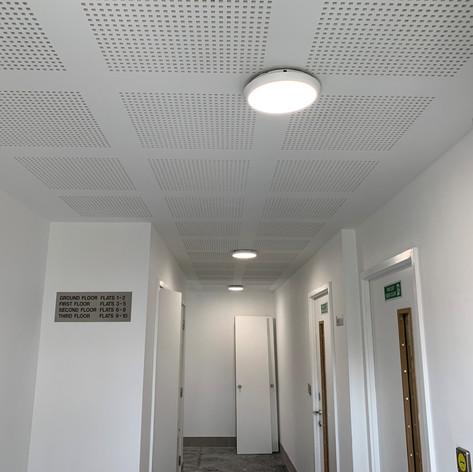 Fully installed Acoustic Ceiling on our project in Acton for Durkan Construction.