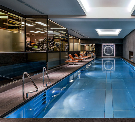 Fully installed moisture-resistant plasterboard ceiling at the Mandarin Oriental in Central London's Hyde Park for Willmott Dixon.