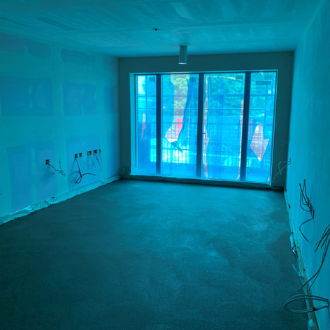 After Screed has been laid on our project in Chobham Farm for Higgins Construction.