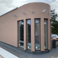 Render applied to flat four on our project in Radlett for Griggs homes.