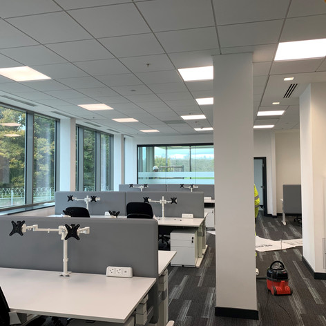 Lay-in Grid Ceiling installed on our project at Gatwick Airport for John Sisk & Son.