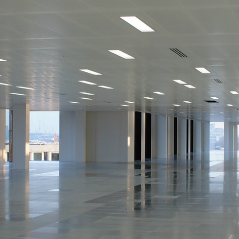 Over 28,000 Sqft of SAS International Lay-in Grid Ceilings installed on our project in Kings Cross for Vinci Construction.