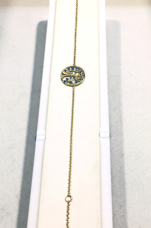 "Bracelet ""arbre de vie"" or jaune/or blanc"