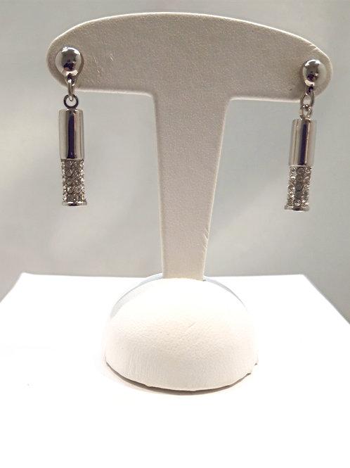 Boucles d'oreilles coniques acier
