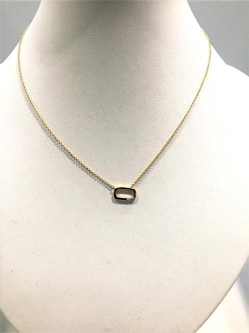 Collier chaîne + pendentif or jaune/ brillants