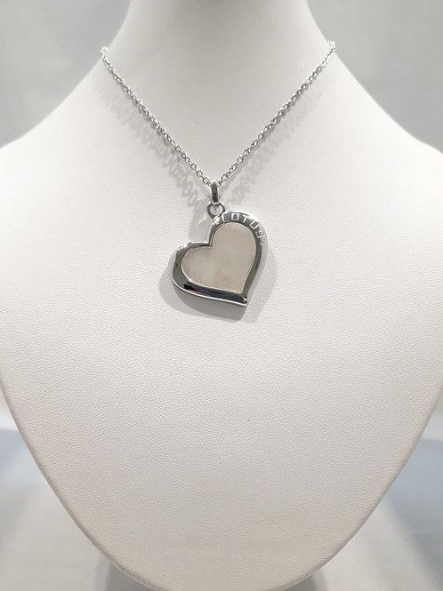 Collier coeur acier
