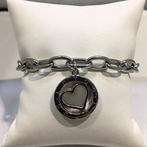 Bracelet mailles coeur