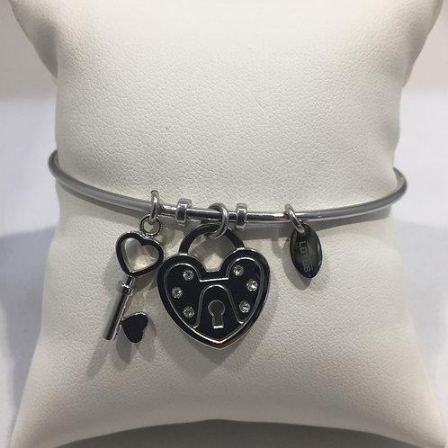 Bracelet esclave coeur