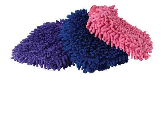 Chenille Grooming Mitts