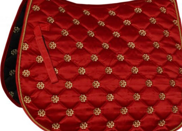 Lucky Clover Satin Saddle Pad