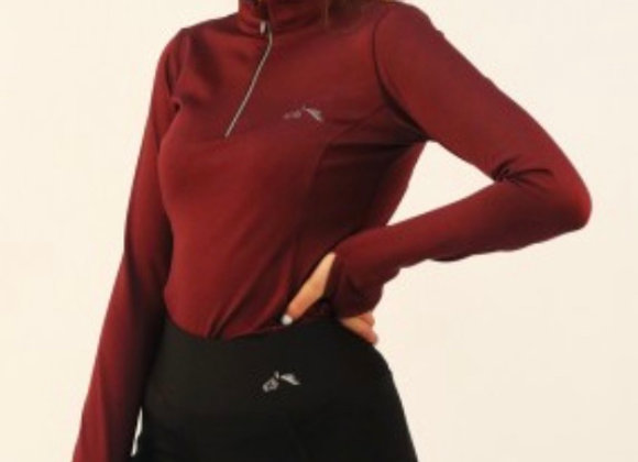 long sleeve zipped neck base layer