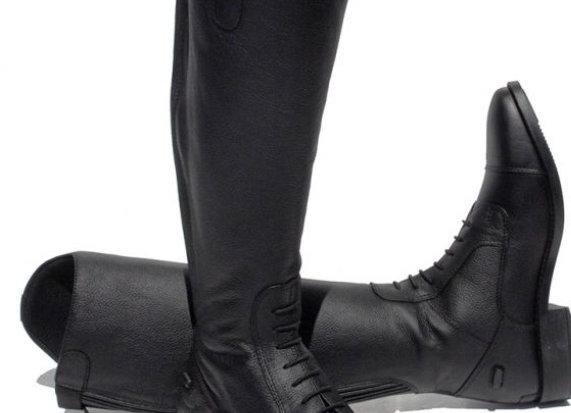 Rhinegold Elite Extra Short Luxus Leather Riding Boot