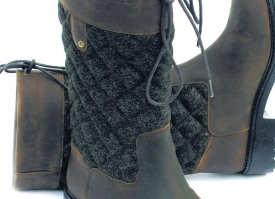 Elite Georgia Tweed Leather Country Boot