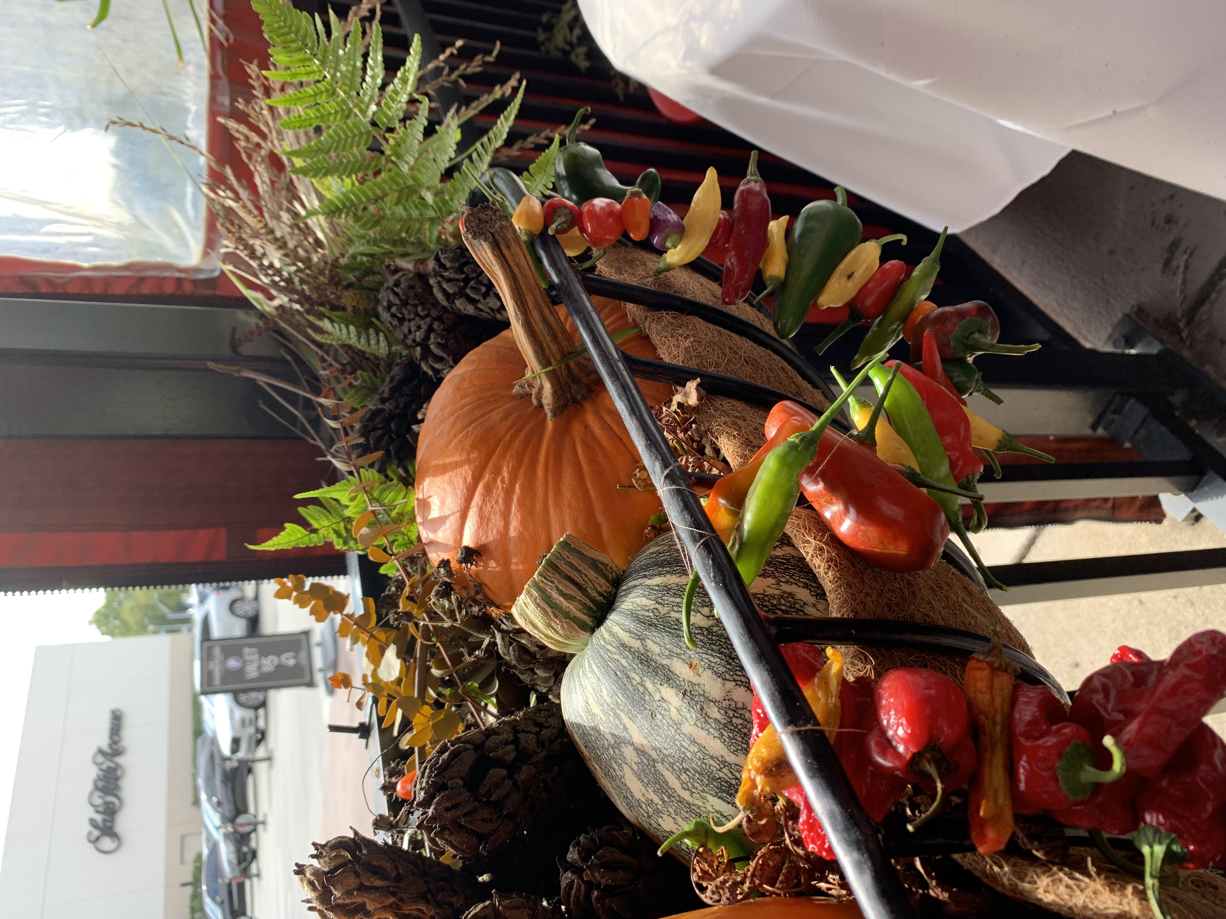 Fall themed arrangement for Davio's restaurant