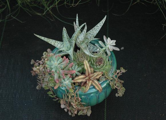 Green Globe Planter