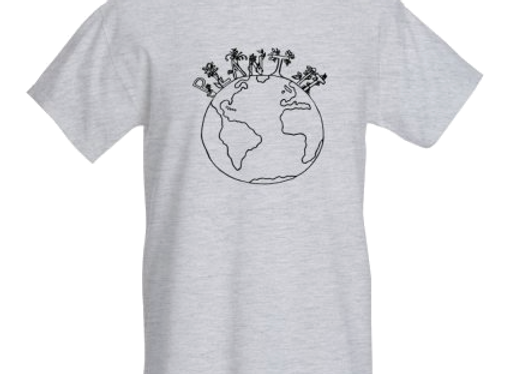 'Plant It Earth' T-Shirt Black and White