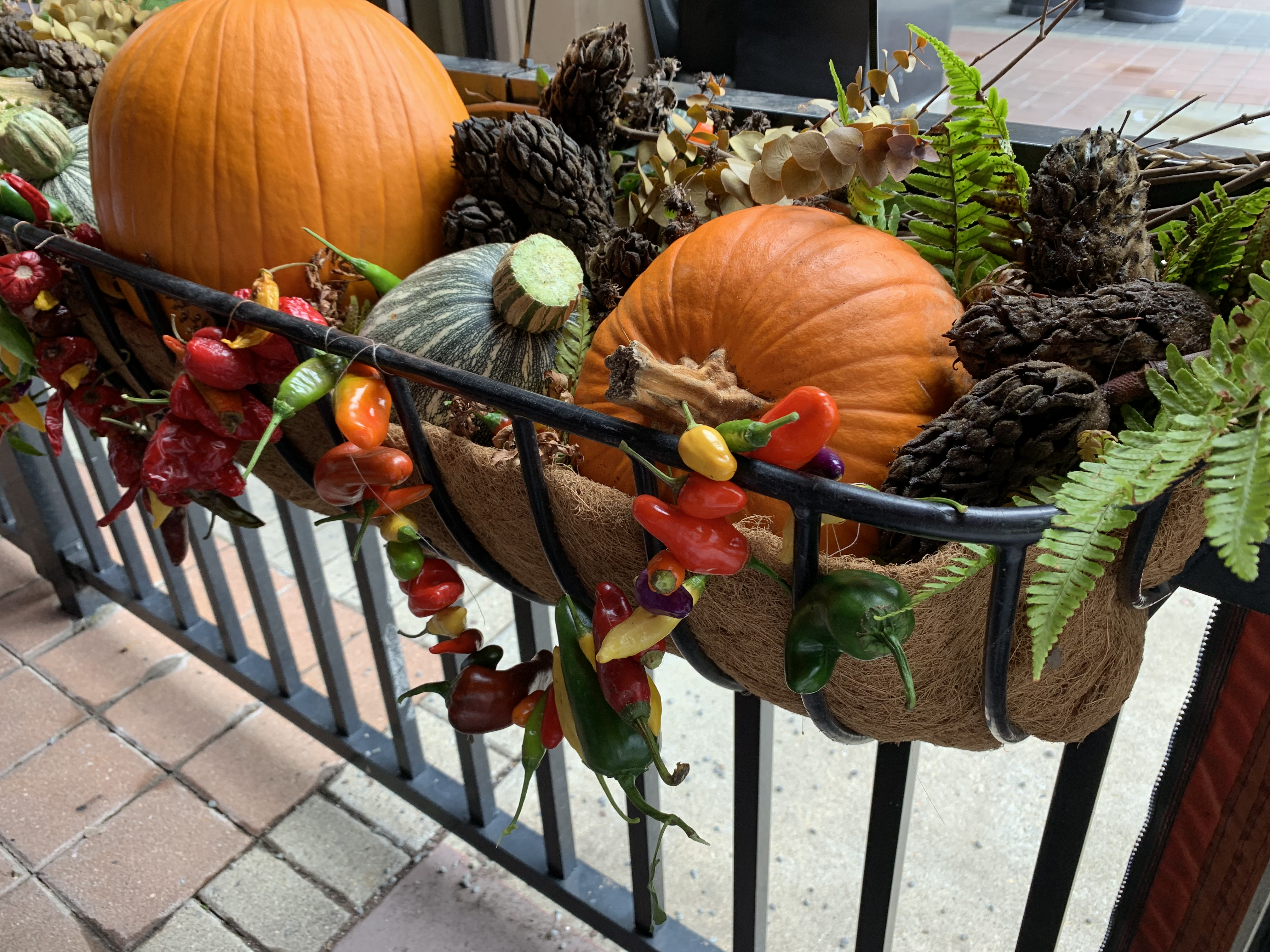 Fall arrangement for Davio's restaurant