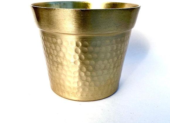 Gold Dimpled Metal Pot