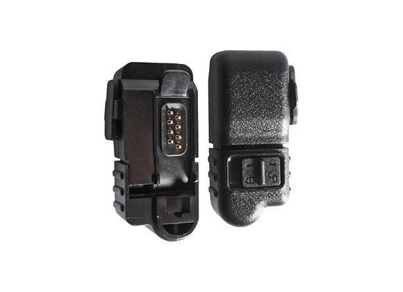 "Radio headset adapter - Motorola 2-pin ""M1"" to multipin ""M9"""
