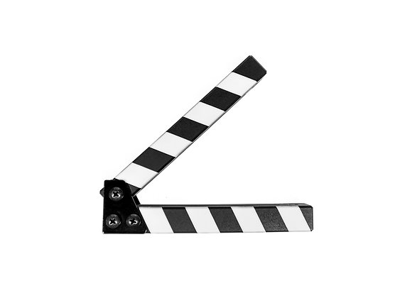 Clapperboard, clapper, slate, board, all weather sticks, clap sticks, clappersticks, filmklappa, klappinnar, stripes, randigt