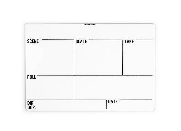 Clapperboard, insert slate, filmklappa, klappa, whiteboard