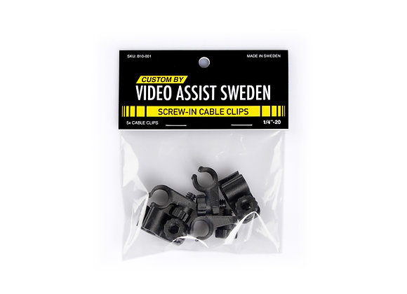 "cable clips, holder for cables, 1/4""-20, camera rig, Arri Alexa, Red camera, camera grip"