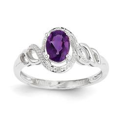 10K WG Amethyst Birthstone Ring