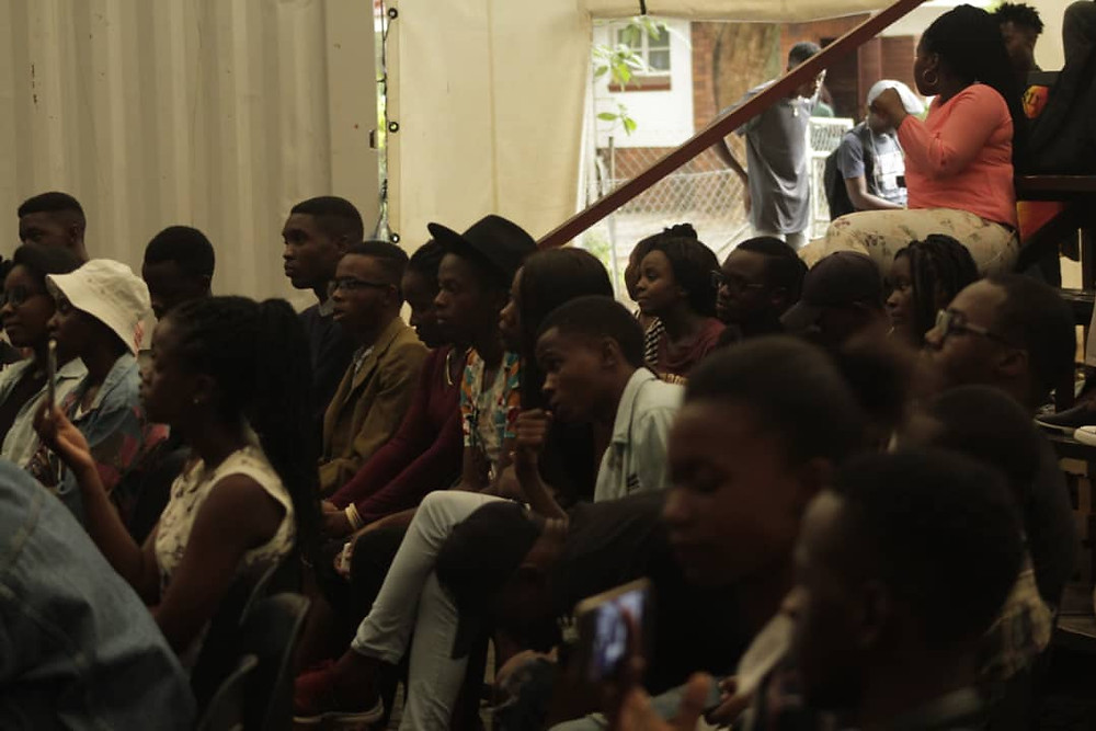 Audience at a Izwi poetry show.