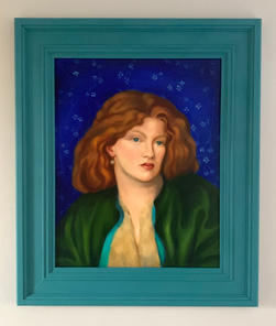 Commission  After Rossetti Oil on Board 50x60cm