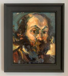 After Cezanne Oil on Board