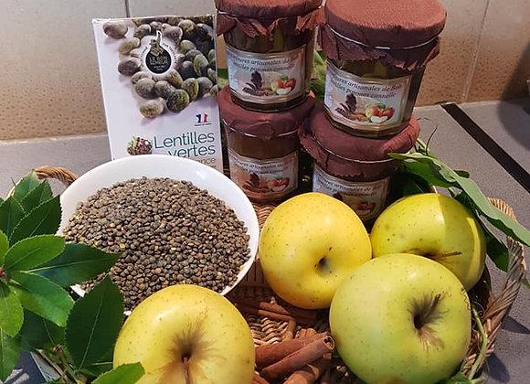 Spécialité lentille-pomme-cannelle