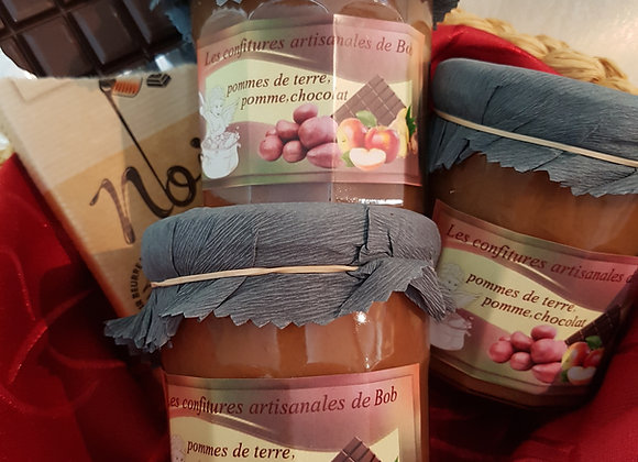 Spécialité pomme de terre-pomme-chocolat-gingembre