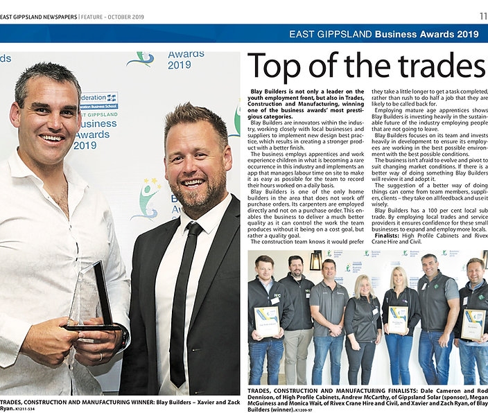 Business Awards Newspaper write up Const