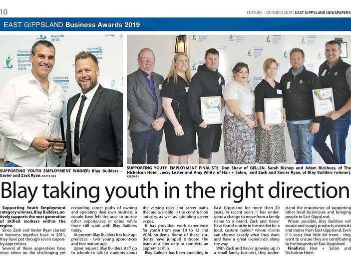 Business Awards - Newspaper Write Up YOU